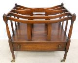 SOLD - Regency Style Mahogany Music Canterbury Magazine Stand